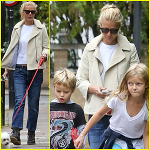 Gwyneth Paltrow Bumps Into Kate Hudson & Ricky Gervais in London!