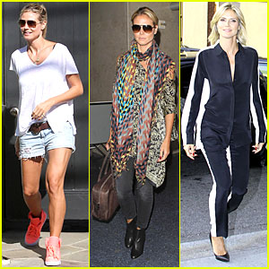 Heidi Klum: Katie Couric TV Show Appearance!