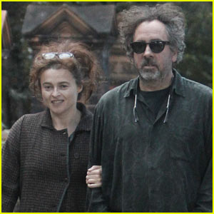 Helena Bonham Carter & Tim Burton Link Arms in London!