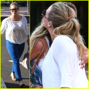 Hilary Duff: Yellow Vase with Haylie!