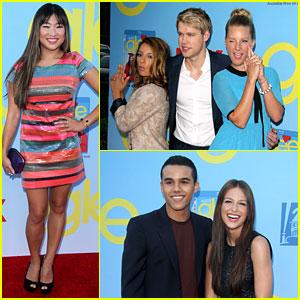 Jenna Ushkowitz & Chord Overstreet: 'Glee' Premiere!