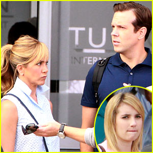 Jennifer Aniston: 'We're the Millers' Set with Emma Roberts &#038; Jason Sudeikis!