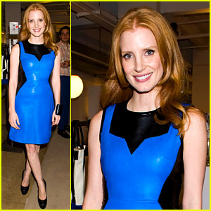 Jessica Chastain: Fashion's Night Out at Jeffrey's!