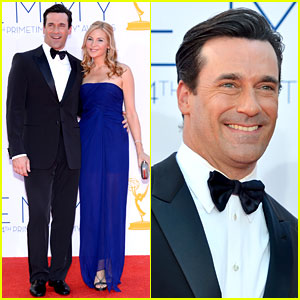 Jon Hamm & Jennifer Westfeldt - Emmys 2012 Red Carpet