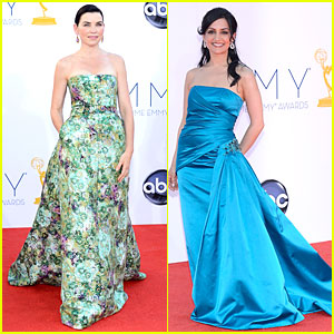 Julianna Margulies & Archie Panjabi - Emmys 2012 Red Carpet