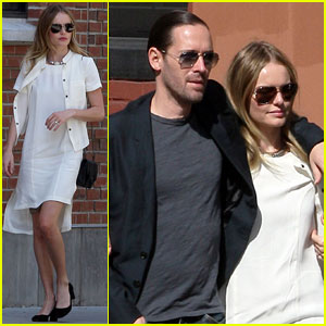 Kate Bosworth & Michael Polish Visit the 9/11 Memorial
