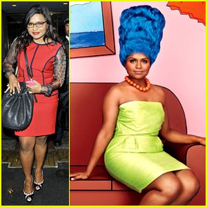 Mindy Kaling: Marge Simpson for 'Glamour' Magazine!