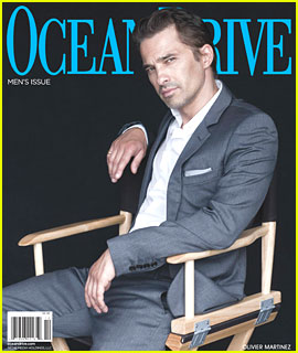 Olivier Martinez Covers 'Ocean Drive' Men's Issue
