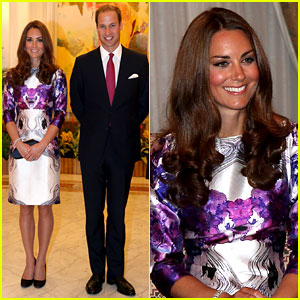 Prince William & Duchess Kate Visit the Istana in Singapore