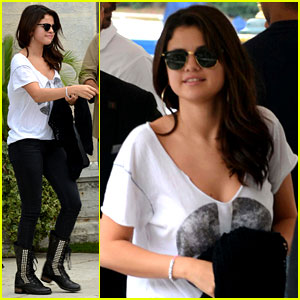 Selena Gomez Arrives for Venice Film Festival