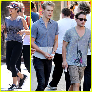 Vanessa Hudgens & Austin Butler Hang Out with Pals