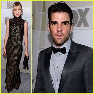Zachary Quinto & Lily Rabe - Fox's Emmys After Party