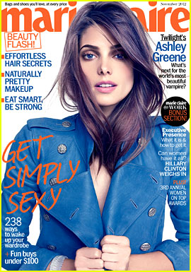 Ashley Greene Covers 'Marie Claire' November 2012
