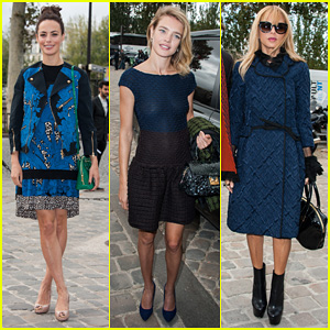 Berenice Bejo & Natalia Vodianova: Louis Vuitton Fashion Show!