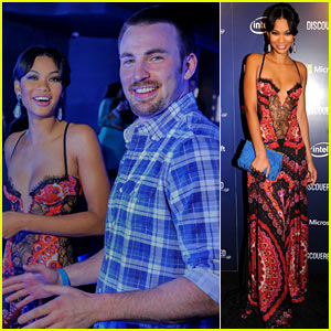 Chris Evans: Discovered Launch with Chanel Iman!