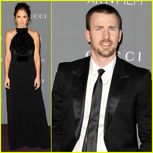 Chris Evans & Minka Kelly - LACMA Art + Film Gala 2012