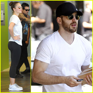 Chris Evans & Minka Kelly: Separate Lunch Outings!