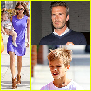 David & Victoria Beckham: Romeo Gets Fake Harper Tattoo!