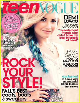 Demi Lovato Covers 'Teen Vogue' November 2012