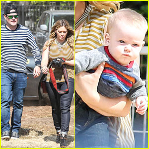 Hilary Duff &#038; Mike Comrie: Luca's First Mr. Bones Pumpkin Patch!