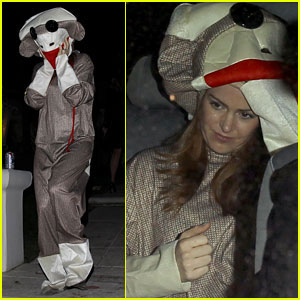 Isla Fisher: Sock Monkey Doll for Halloween!