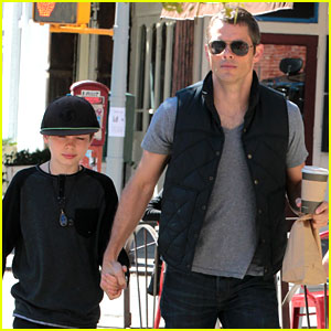 James Marsden: East Village Coffee Run with Son Jack