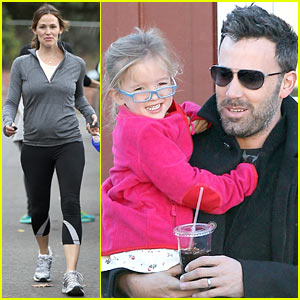 Jennifer Garner & Ben Affleck: Brentwood Breakfast with Seraphina!