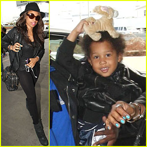 Jennifer Hudson: LAX Departure with David!