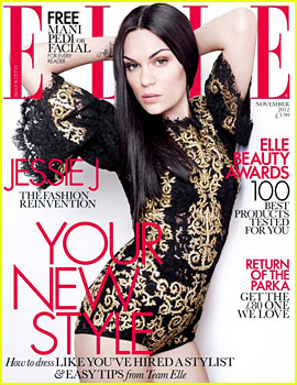 Jessie J Covers 'Elle UK' November 2012