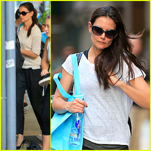Katie Holmes: Soul Cycle Workout!