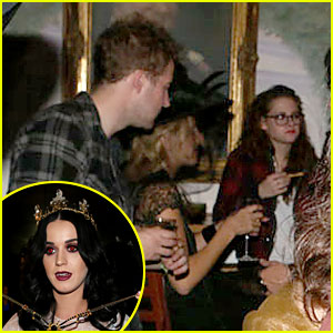 Kristen Stewartbirthday on Kristen Stewart Chats With Her Friends At Katy Perry   S Birthday