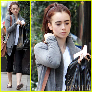 Lily Collins: 'Mortal Instruments' Break in Toronto!