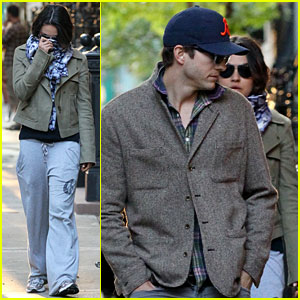 Mila Kunis & Ashton Kutcher: Low Profile in the Big Apple!