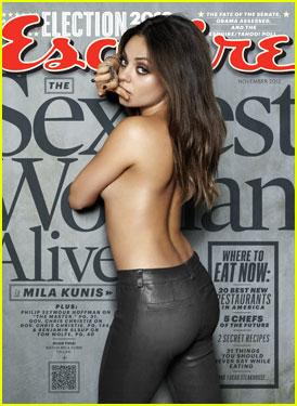 Mila Kunis: Topless 'Esquire'