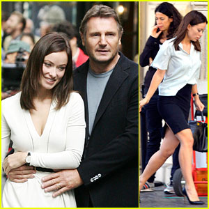 Olivia Wilde & Liam Neeson: 'The Third Person' in Rome!