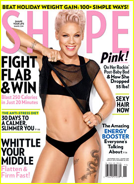 Pink Bares Bikini Body for 'Shape' Magazine!