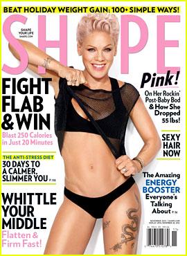 Pink Bares Bikini Body for 'Shape' Magazine!