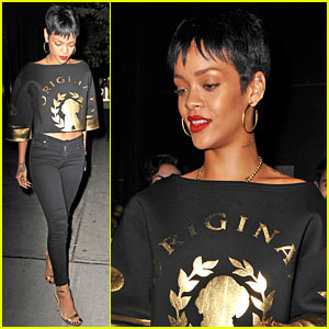 Rihanna: Emilio's Ballato East Village Dinner!