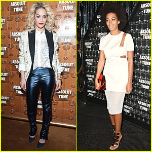 Rita Ora &#038; Solange Knowles: Absolute Tune Launch Party!