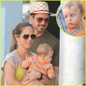 Robert Downey, Jr.: Miami Outing with Susan & Exton!