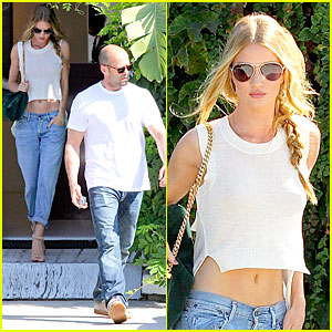 Rosie Huntington-Whiteley & Jason Statham: Art Gallery Shopping!