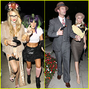 Rosie Huntington-Whiteley & Julianne Hough: Halloween Party Beauties!