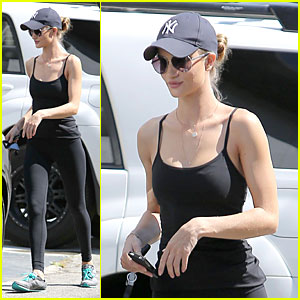 7c9dadbb8d4 City Celebrities  Rosie Huntington-Whiteley  New York Yankees Fan!