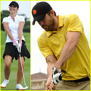 Ryan Reynolds & Minka Kelly: Golf Tournament in China!
