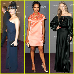 Salma Hayek & Kerry Washington - LACMA Art + Film Gala