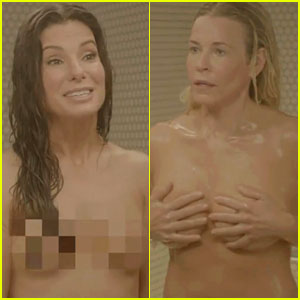 Sandra Bullock & Chelsea Handler: Naked Shower Video!
