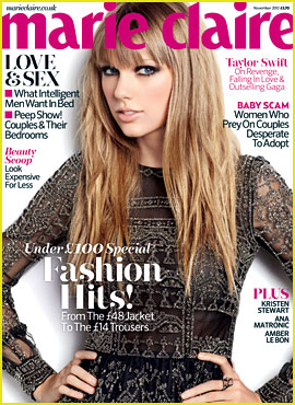 Taylor Swift Covers 'Marie Claire UK' November 2012