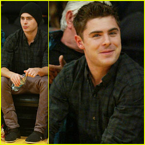 Zac Efron: L.A. Lakers Season Opener!