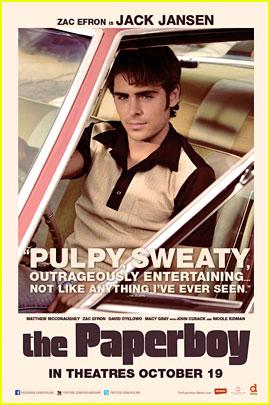 Zac Efron & Nicole Kidman: 'Paperboy' Character Posters!