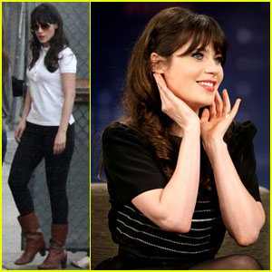 Zooey Deschanel: 'Jimmy Kimmel Live' Appearance!